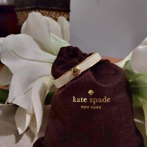 Kate Spade Cream Enamel Hinged Bracelet